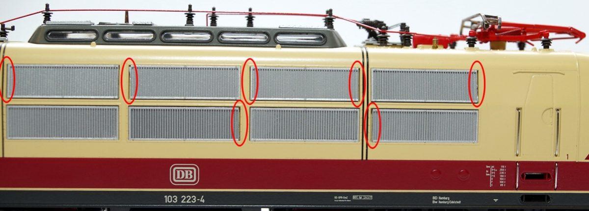 NEU Antenne grau z.B Ersatz-Dachlüfter für ROCO S-Bahn ET 420 Spur H0